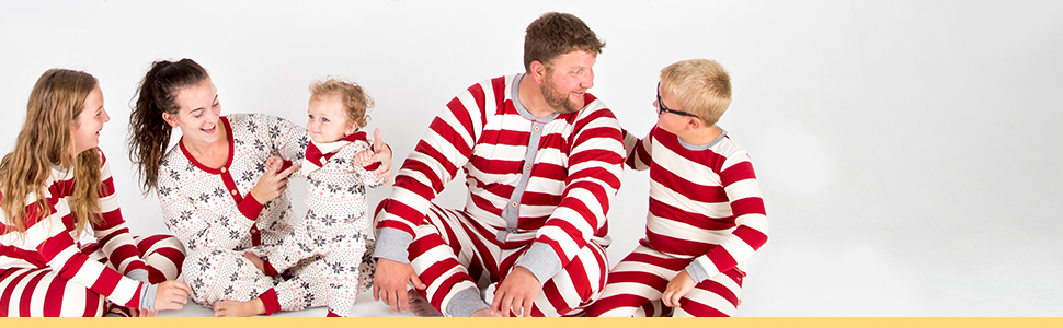 burts bees baby holiday family jammies