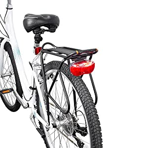 Ibera Bike Rack – Bicycle Touring Carrier with Fender Board, Frame-Mounted for Heavier Top & Side Loads, Height Adjustable for 26