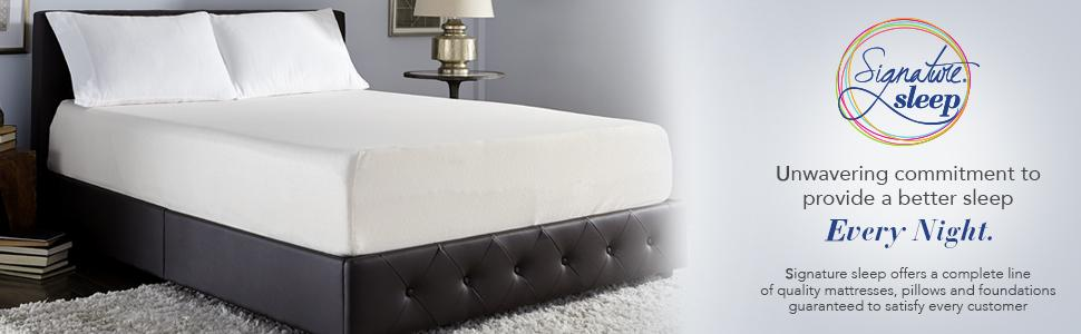 mattress; memory foam mattress; bed; bed mattress; queen mattress;  signature sleep - Amazon.com: Signature Sleep Memoir 8 Inch Memory Foam Mattress
