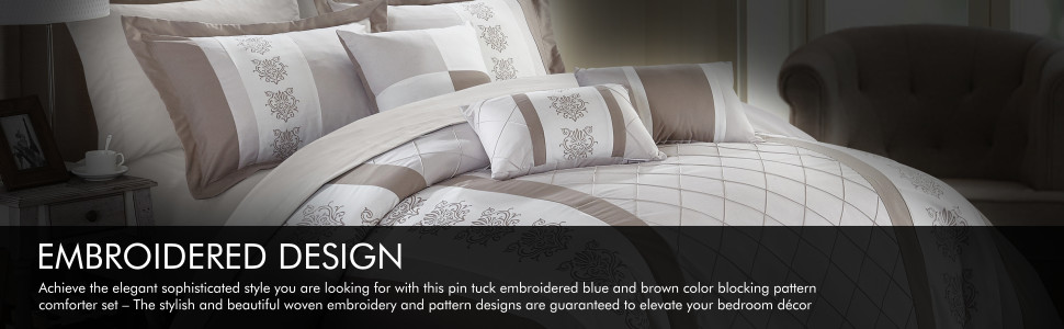 Chic Home Embroidered Design