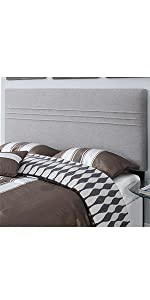 upholstered headboard, headboard, upholstered, pulaski, home meridian, silver