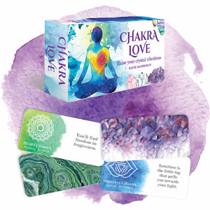 Chakra Love Box, 2 cards face down, 2 cards face up
