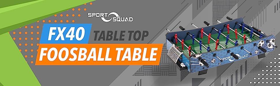 Sport Squad FX40 tabletop foosball table