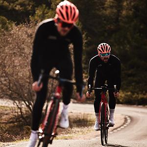 Gore Bike WEAR, Men´s, Cyclist Jersey, Long Sleeves, Warm, Gore Windstopper, Oxygen, Size M, Red/Black, SWOXLM