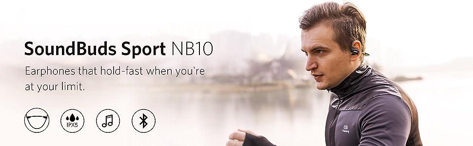 8e6d7153b28 Amazon.com: Anker SoundBuds Sport NB10 Bluetooth Headphones, IPX5 ...
