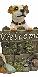 jack russell statue, jack russell, russell, terrier, welcome sign, welcome statue, dog welcome sign