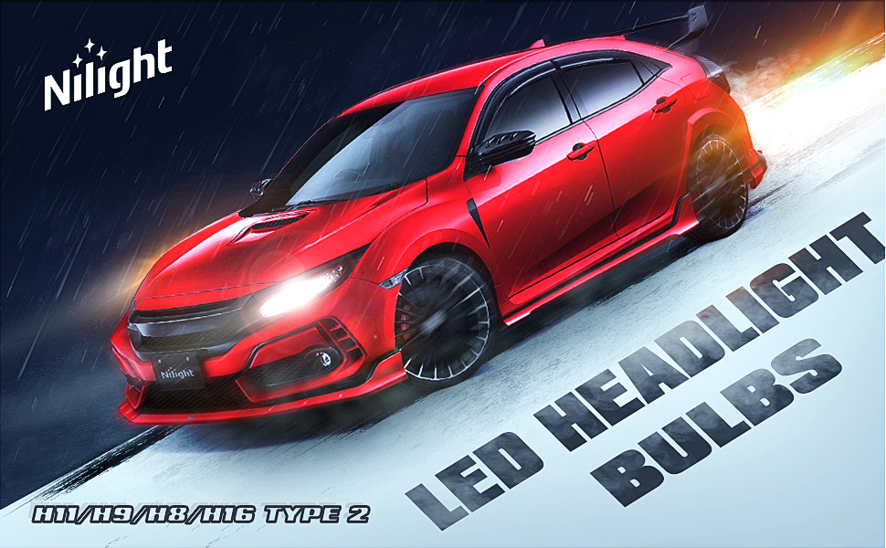 H11 led headlight bulb, Low Beam, H9 High Beam, H8 Fog Light, H16 Driving light, Halogen replacement