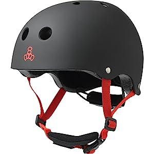 Triple Eight LIL 8 Dual Certified Sweatsaver Kids Skateboard and Bike Helmet with Padded Chin Buckle
