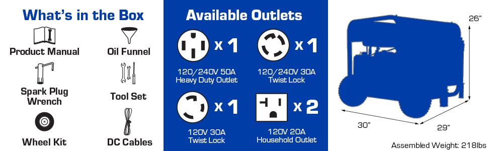 Duromax XP10000E Portable 10000 Watt Home Backup Outdoor life generator