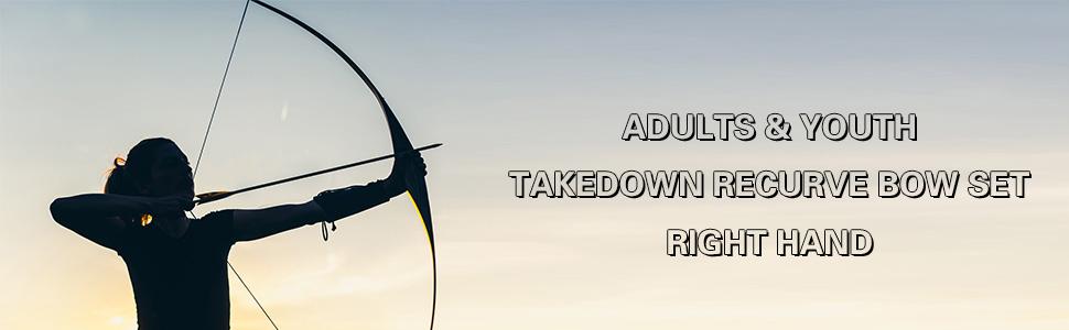recurve bow archery bow takedown recurve bow bow and arrow takedown bow archery set