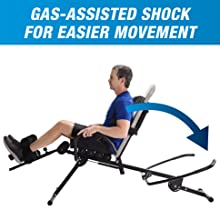 gas assisted shock for automatic movement