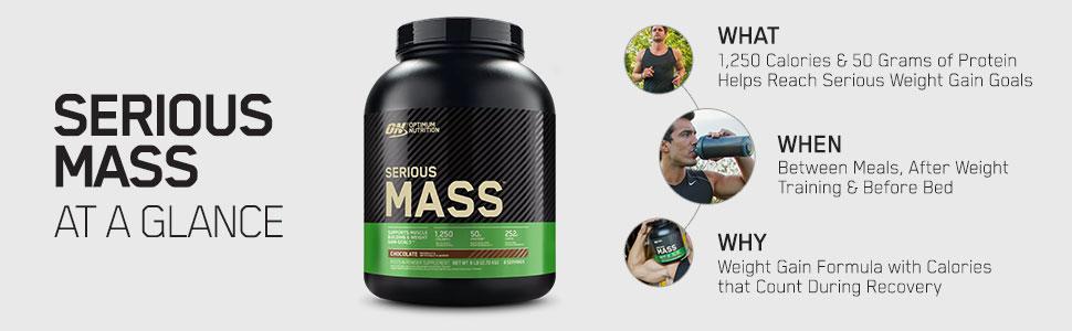 Serious Mass weight gainer whey protein powder