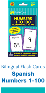 Numbers 1 to 100 Flash Cards in Spanish