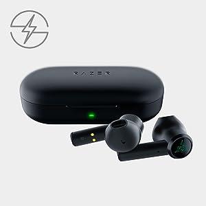 Razer Hammerhead True Wireless Earbuds Sans Fil avec Bluetooth 5.0 (Écouteur Bluetooth, Résistant à l'eau, Connexion à très faible latence, Basses