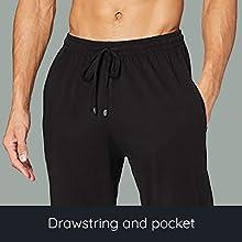 Mens Pyjama drawstring and pocket