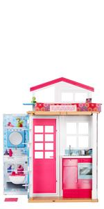 Barbie Casa dos pisos transportable Muñeca incluida casa muñecas ...