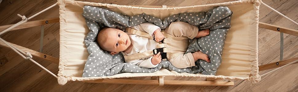 Koala Bag inkl Gestell 0-9 Monate bis 15 kg AMAZONAS Koala Set Cacao Baby H/ängemattenset Koala Sunny Cacao
