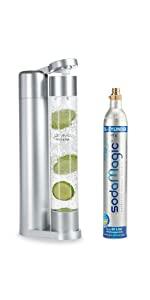 Fruit & Fun Sprudler Slim avec bouteille 1L et bouteille de CO2