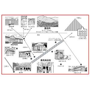 薬苑町の地図