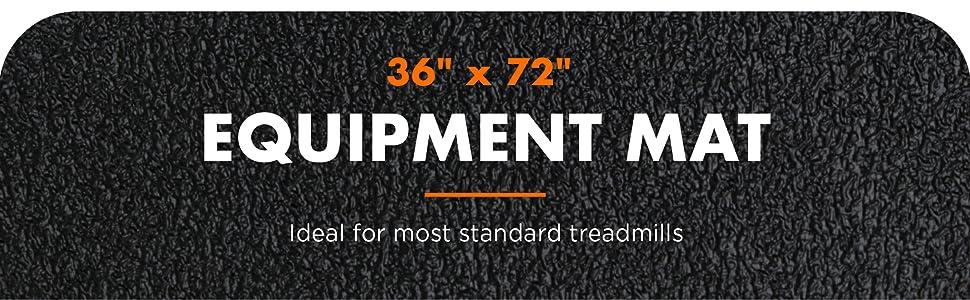 """36"""" x 72"""" fitness equipment mat, fits standard treadmills"""