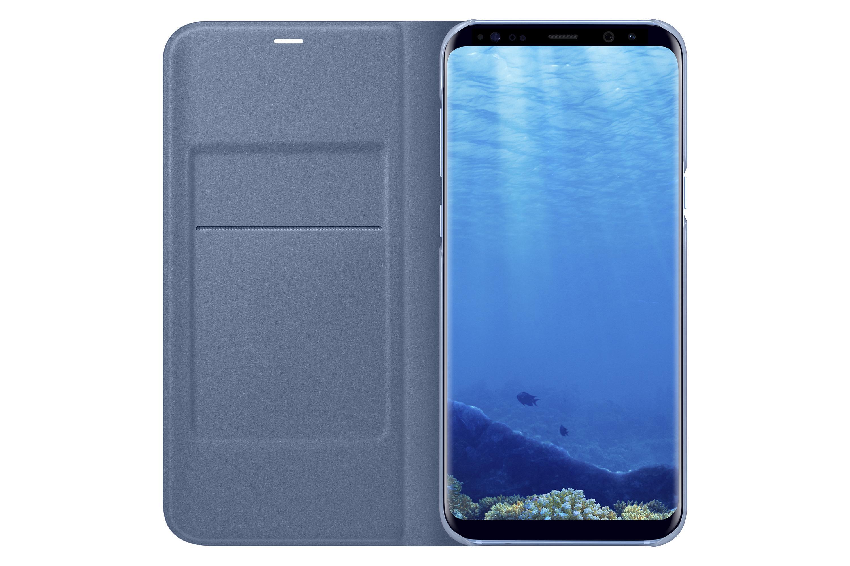 samsung galaxy s8 led view wallet case blue. Black Bedroom Furniture Sets. Home Design Ideas