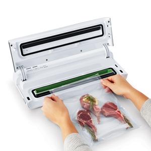open vacuum sealer with bag inside