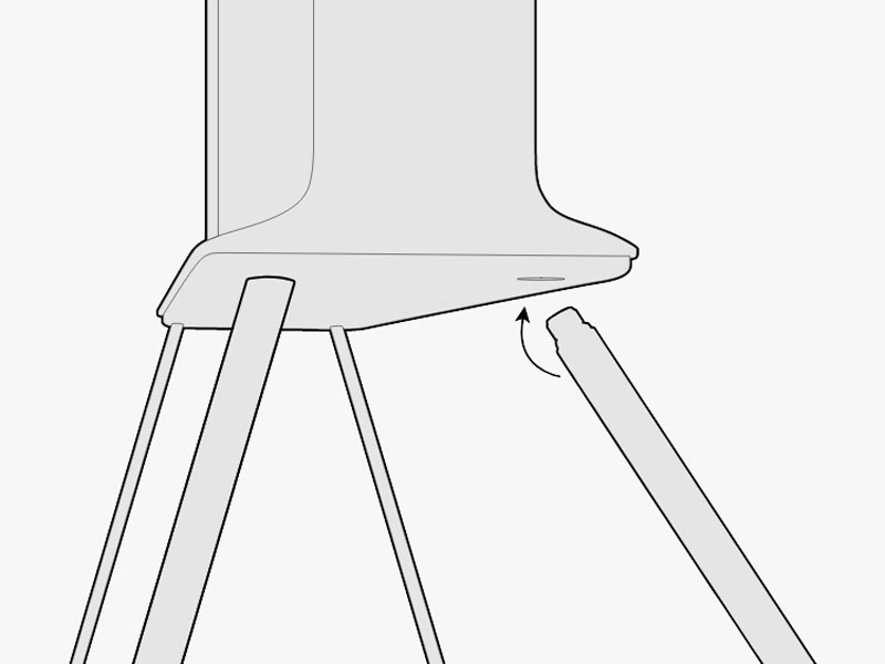 Illustration of The Serif attaching to the stand