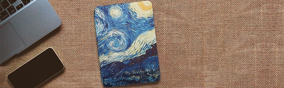 Capa Kindle Paperwhite WB Ultra Leve Van Gogh