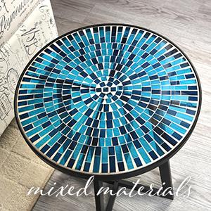 outdoor decor, outdoor table, mosaic table, mosaic decor
