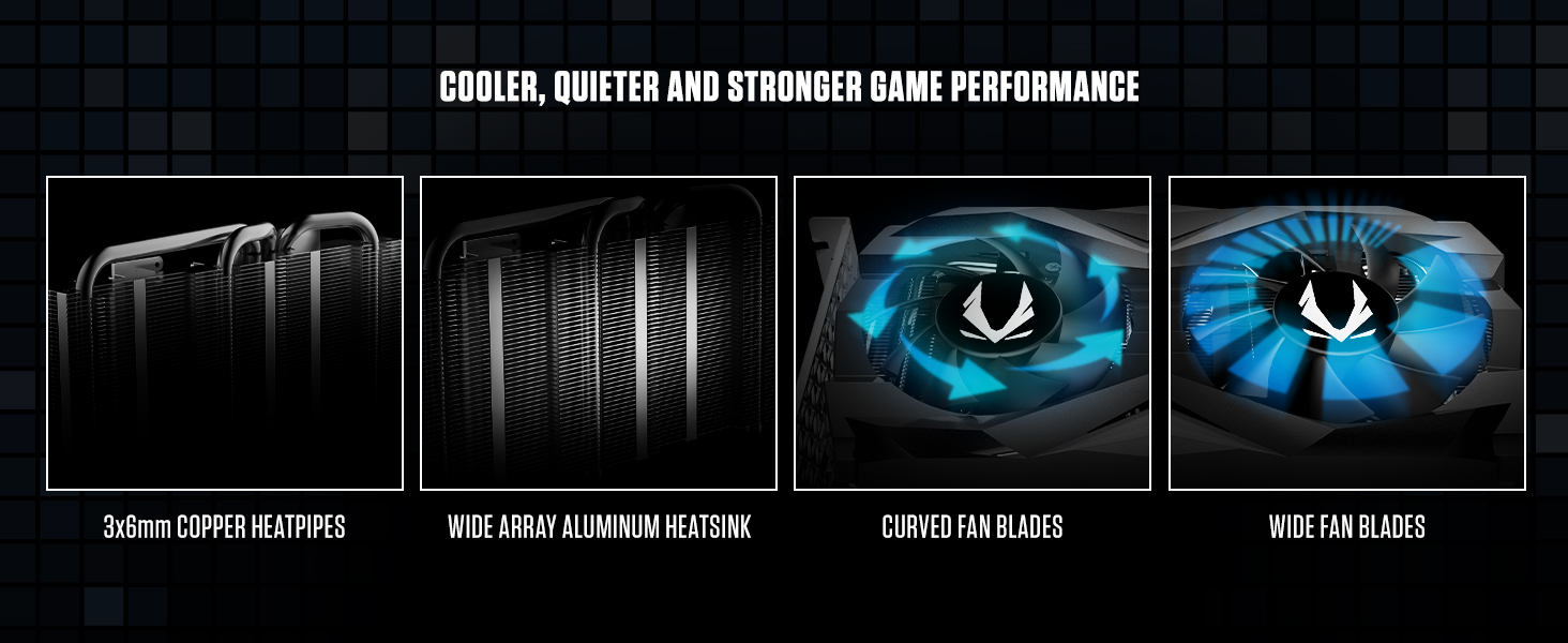 ZOTAC GAMING GeForce GTX 1660 Ti cooler, quieter and stronger game performance