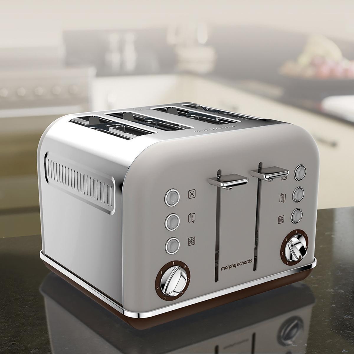 morphy richards 242102ee accents 4 schlitz toaster beige. Black Bedroom Furniture Sets. Home Design Ideas