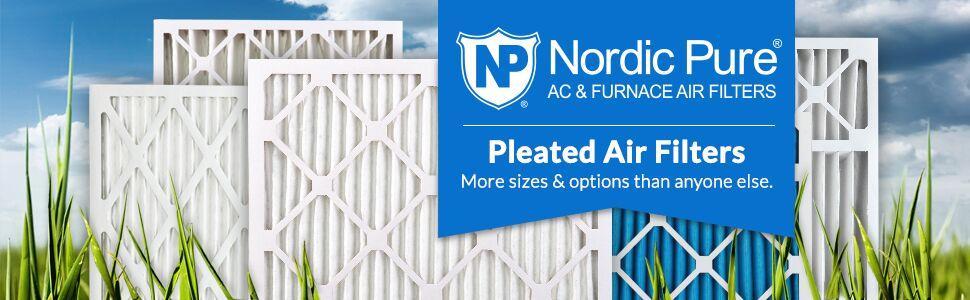 Carbon AC Furnace Filters 6 Piece Nordic Pure 20x36x1CustomM7+C-6 MERV 7