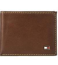 tommy hilfiger mens leather bifold wallet