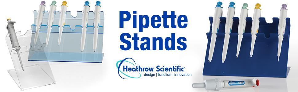 Pipette Stands Holder Pipetting storage acrylic ABS holder rack Heathrow Scientific lab equipment