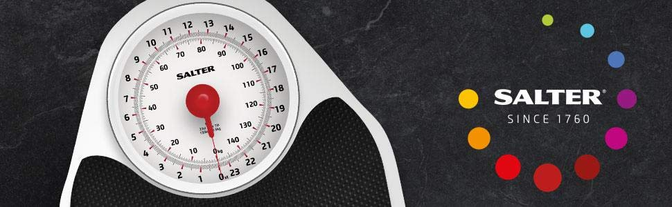 Salter 145 BKDR - Báscula mecánica para baño: Amazon.es: Salud y ...
