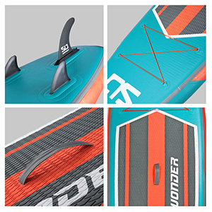 Swonder Inflatable Stand Up Paddle board fin, buggee, EVA deck pad, haddle