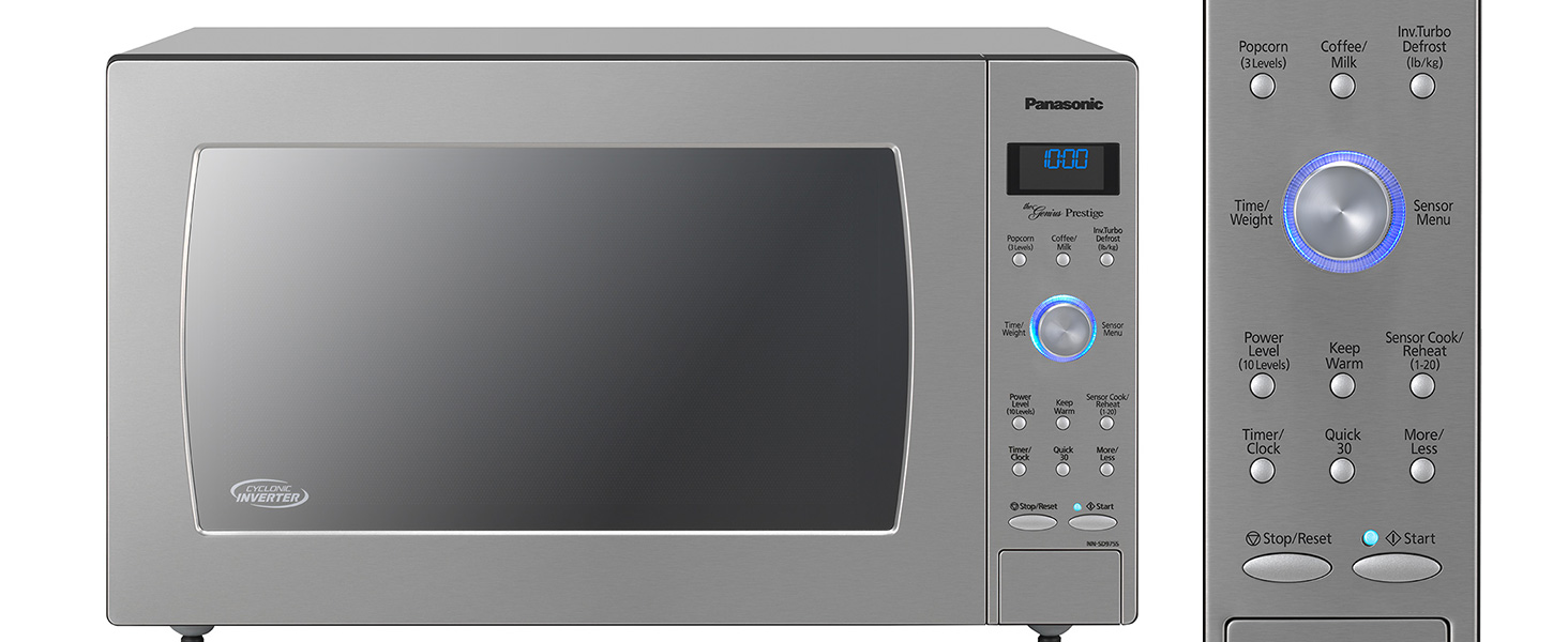 Panasonic Countertop / Built-In Microwave Oven with Cyclonic Wave Inverter Technology and 1250W of Cooking Power - NN-SD775S - 1.6 cu. ft (Stainless ...