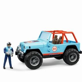 Bruder 02542 Jeep Cross Country Racer mit Rennfahrer Geländewagen orange NEU Spielzeugautos