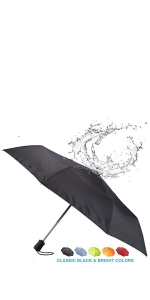 travel friendly umbrella folding umbrella waterproof windproof sunproof durable compact multicolor