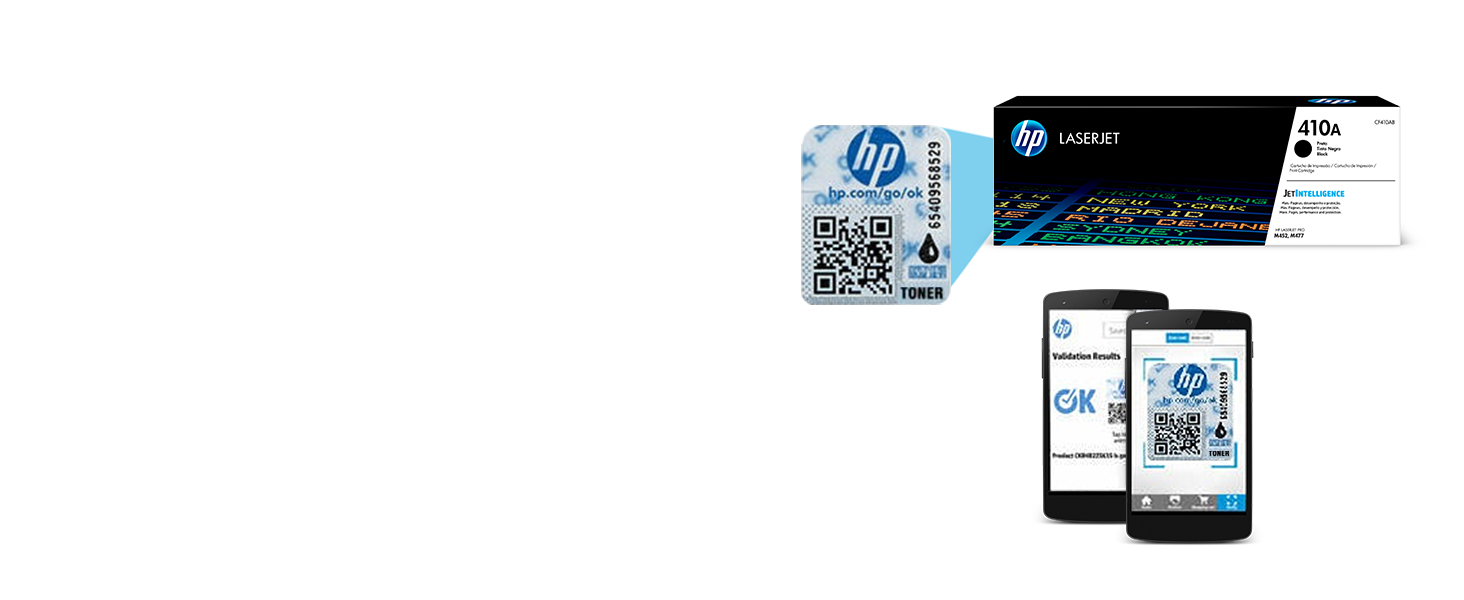 The HP security label ensures you are purchasing genuine HP products.