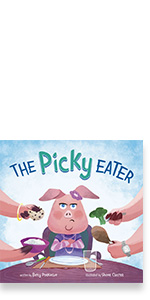 picky eater food habits pig self-awareness body awareness behavior manners eating decisions learning