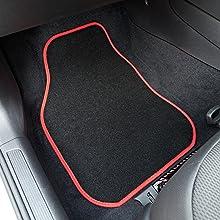 Safe Travel 27552 Universal Automatten Set Für Rechtslenker Geschweißter Ferseneinsatz Rote Einfassung Auto