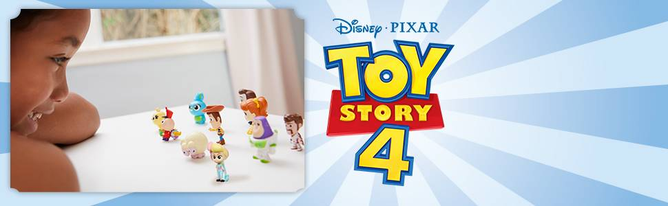 Mattel Disney Toy Story 4 Pack de 10 amiguitos, Mini Figuras ...