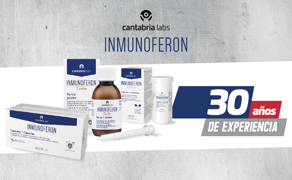Inmunoferon Complemento Alimenticio - Refuerza el Sistema Inmunológico, Ayuda a las Defensas, Fórmula Exclusiva con AM3, Sin Gluten, Sin Lactosa, 90 ...