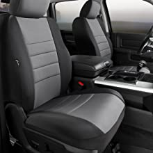 Rear Split Seat 60//40//Neoprene Center Panel NP92-51 GRAY FIA NP92-51 Black with Gray Cover