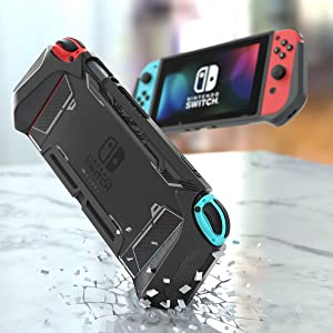 Mumba Dockable Case for Nintendo Switch TPU Grip for Nintendo Switch Console and Joy-Con Controller
