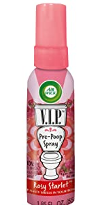 Amazoncom Air Wick VIP PrePoop Spray Rosy Starlet Oz - Bathroom smell remover