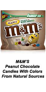 Made with colors from natural sources, these Peanut M&M'S Candies are a fun twist on an old favorite