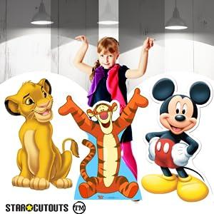 Recortes de cartón Disney Simba Mickey Mouse Tigger
