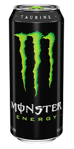 Green can Monster green original best popular energy drink in bulk variety pack